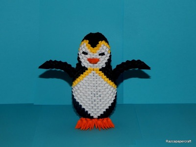 3D Origami Penguin tutorial part 1