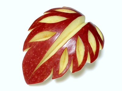Art In Apple Leaf Fruit carving - Beginners Lesson 41 By Mutita The Art Of Fruit And Veg Carving