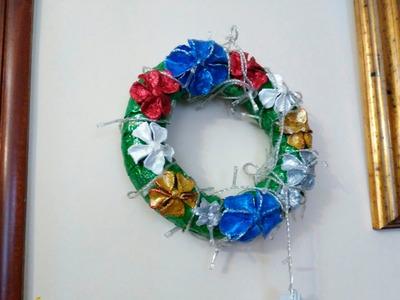 CORONA FLORAL NAVIDEÑA - CHRISTMAS FLOWER CROWN