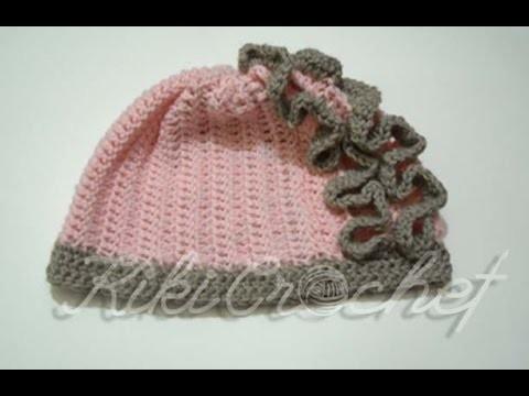 Crochet Ruffle Stitch Hat (English Tutorial- pt 1)