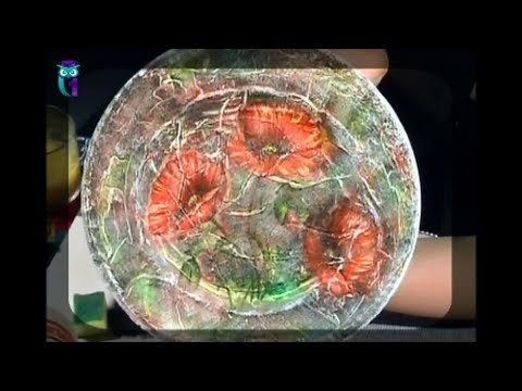 "Decoupage. Study the decoration method ""volume lace"". Diy. Handmade"