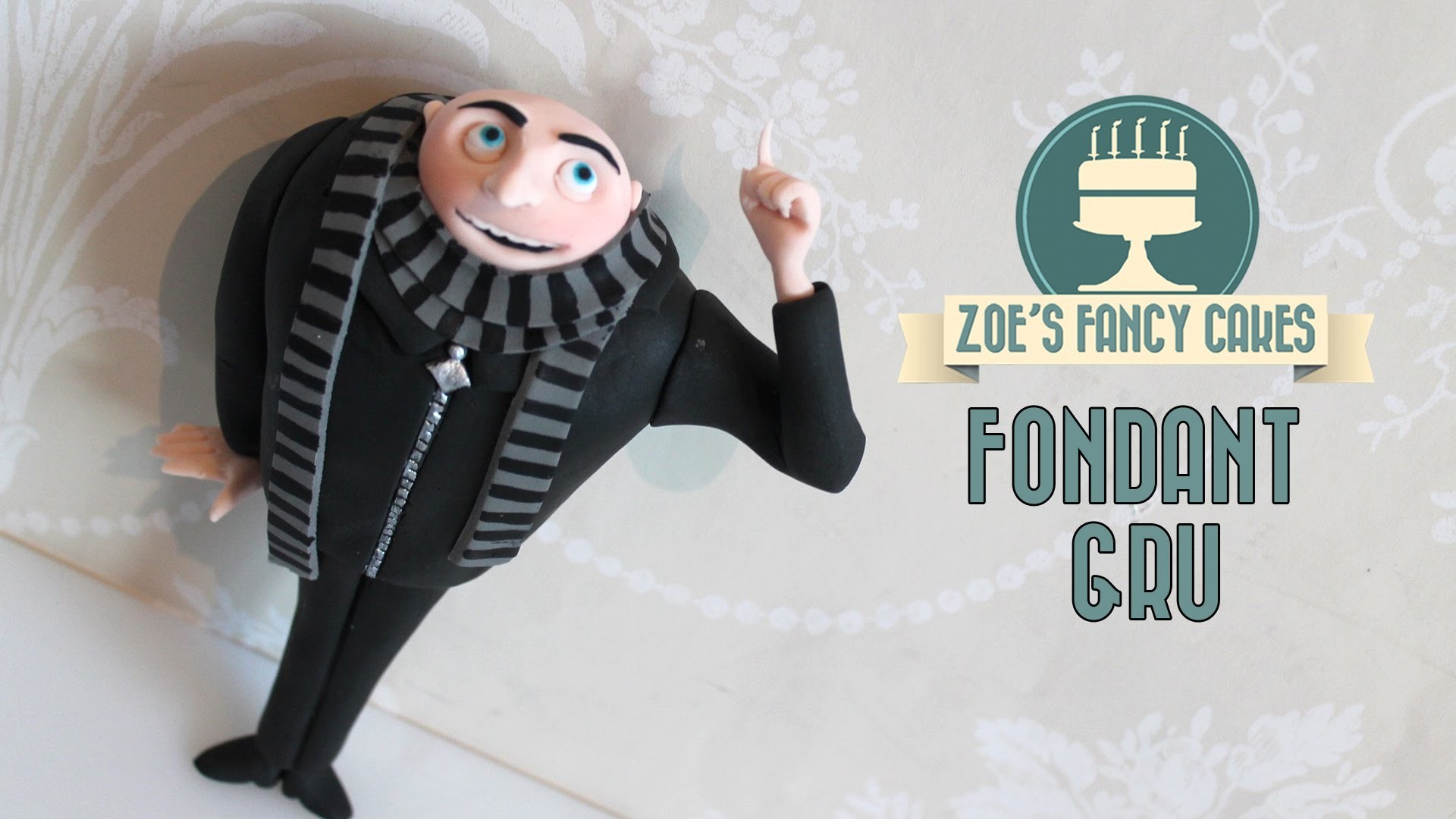 Despicable me Gru: How to make a Gru model gum paste or fimo minions tutorial