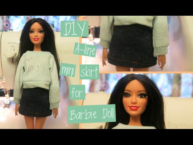 DIY A-line Barbie Skirt| Easy Sewing