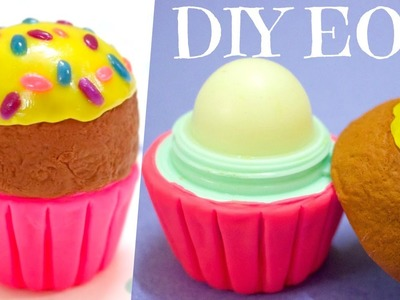 DIY Cupcake EOS Container | How to Make EOS Lip Balm | DIY Christmas Gifts