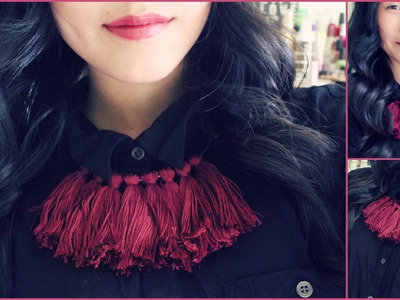 DIY Fashion: Statement Tassel Necklace | Fall Inspired