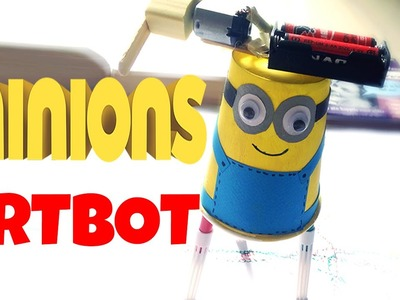 DIY for kids: Minions artbot (easy tutorial)