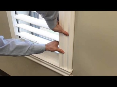 """DIY Plantation Shutters. See how """"SnapView Shutters"""" DIY self-installation is a """"Snap""""!"""