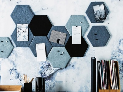 DIY PROJECT: Mini hex pinboards - homes+