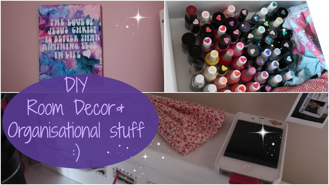 DIY: Room Decor.Organisational Things!!