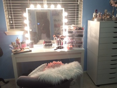 DIY VANITY GIRL INSPIRED MIRROR 2015 - QUICK & EASY ⎮MAKEUP TABLE 2015