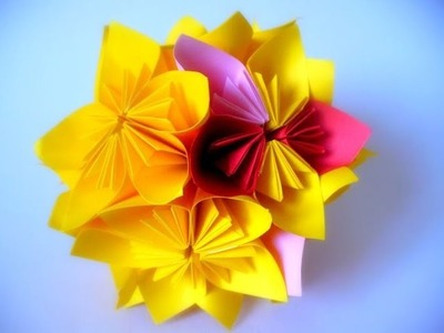 Easy origami flower Globe  - How to make origami flowers globe very COOL!