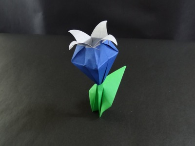 Easy origami flower instructions - How to make origami flowers bell