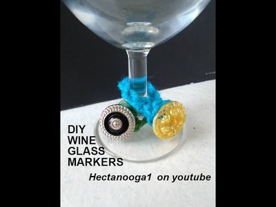 How to CROCHET WINE GLASS MARKERS