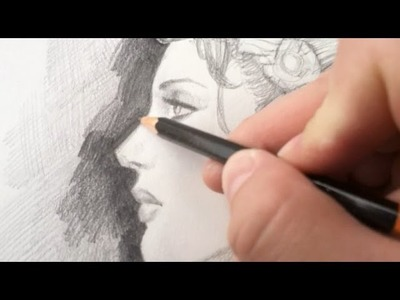 How to Draw using Hatching Technique (4B Pencil)