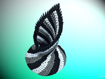 How to make 3d origami vase 12 - part 1