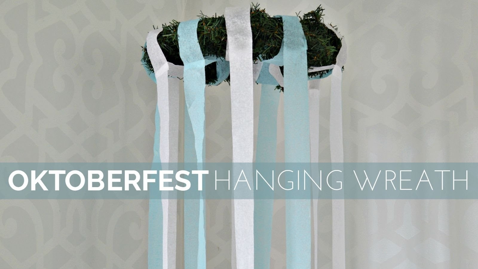 How to Make an Oktoberfest Hanging Wreath