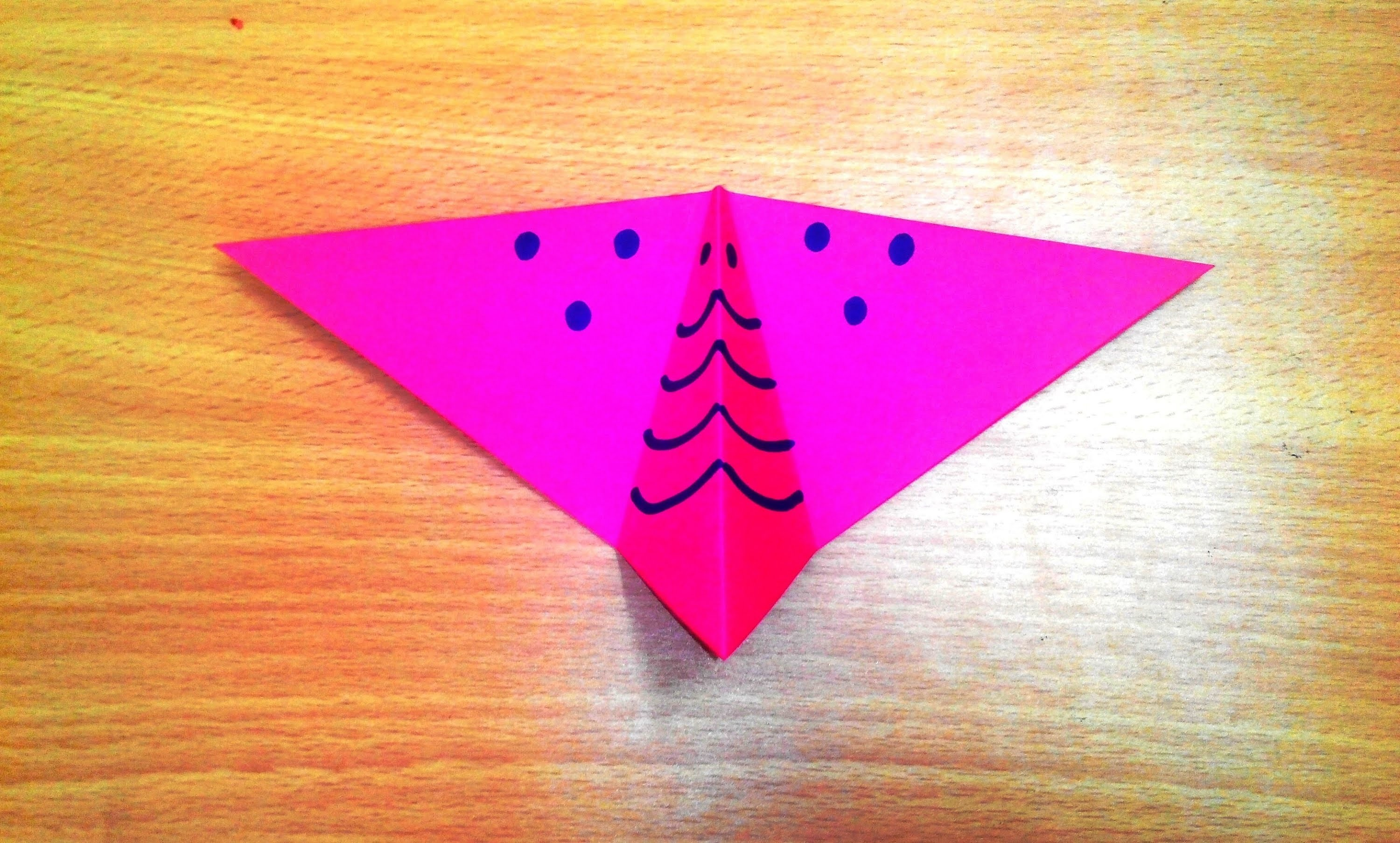How to make an origami butterfly step by step.