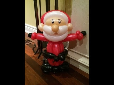 How to make Santa Claus Balloon for Christmas