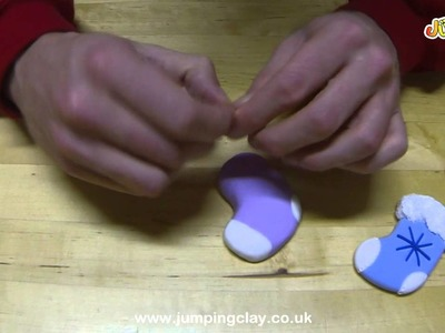 Jumping Clay Tutorial - How to make a Christmas Stocking Decoration