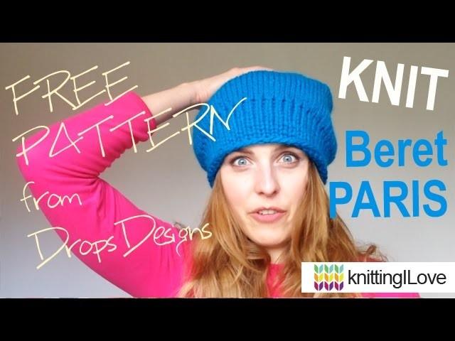 Knit Beret HAT Paris DROPS | knittingILove