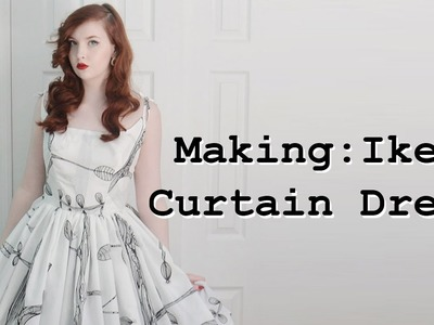 Making a Dress From Curtains - Part Two