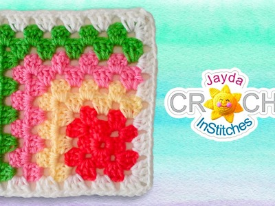 Mitered Granny Square Crochet Pattern