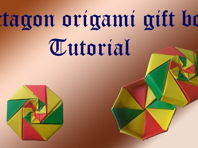 Octagon origami gift box tutorial
