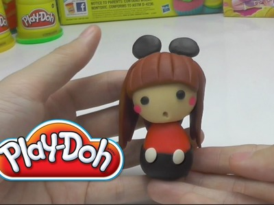 Play-Doh Cute Mickey Girl -  How to Do DIY - Play with Clay