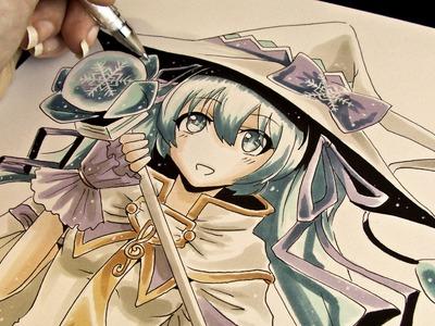 Winter Miku 2014 Flex Marker Drawing
