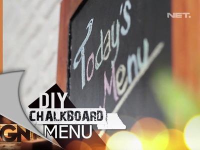 D'SIGN - DIY - Chalkboard Menu