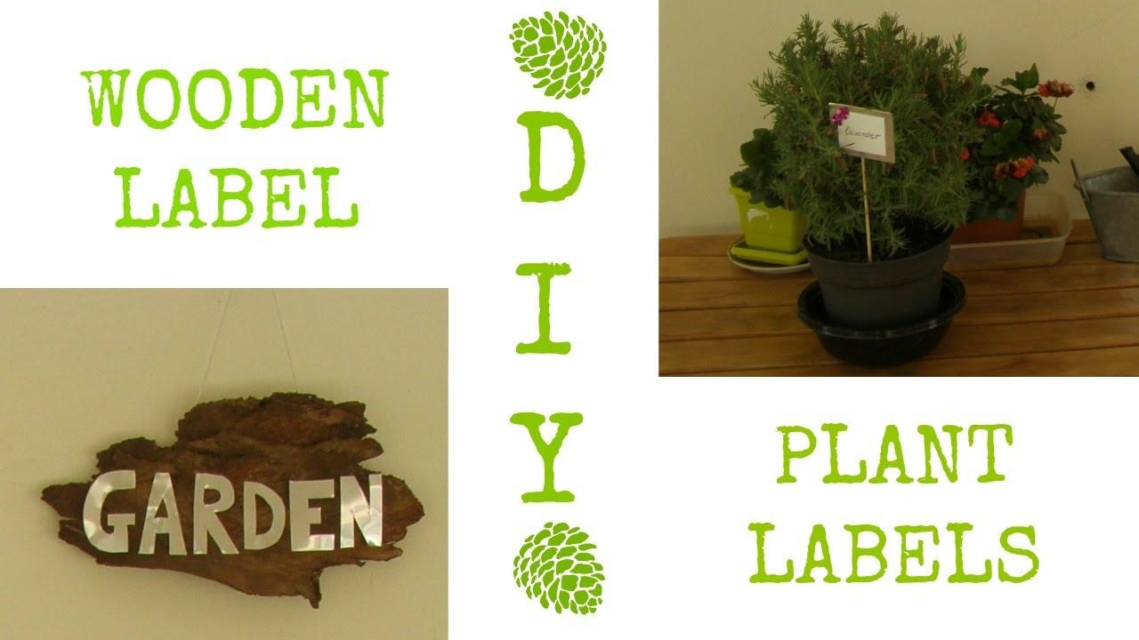 DIY: 2 garden decor ideas (plant labels & wooden sign)