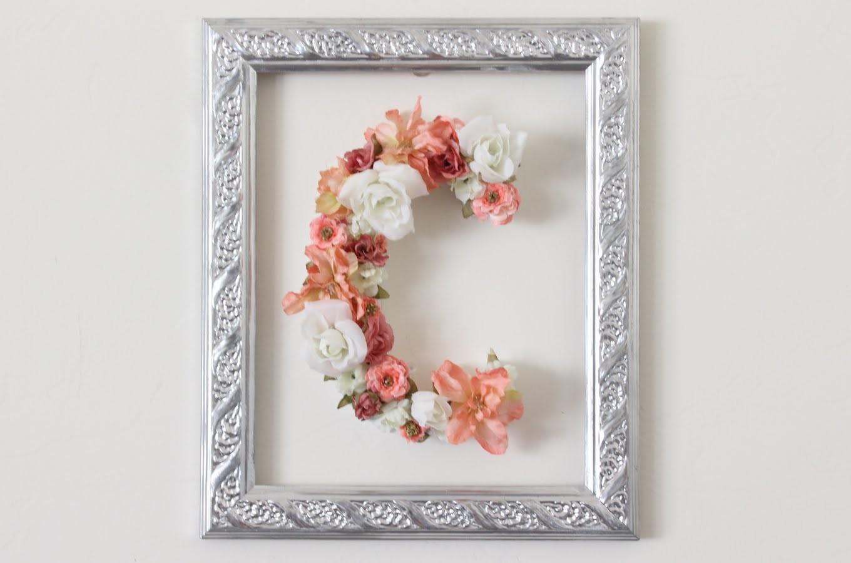 DIY Floral Block Letter
