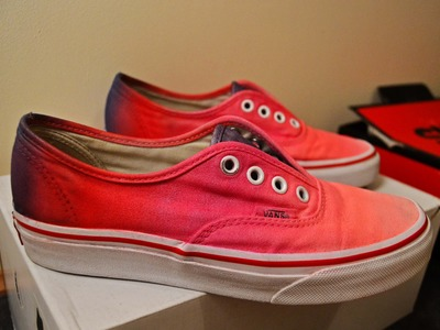 DIY: How to do - OMBRE VANS RED & PURPLE
