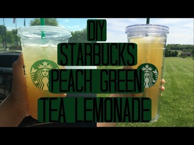DIY Starbucks Peach Green Tea Lemonade
