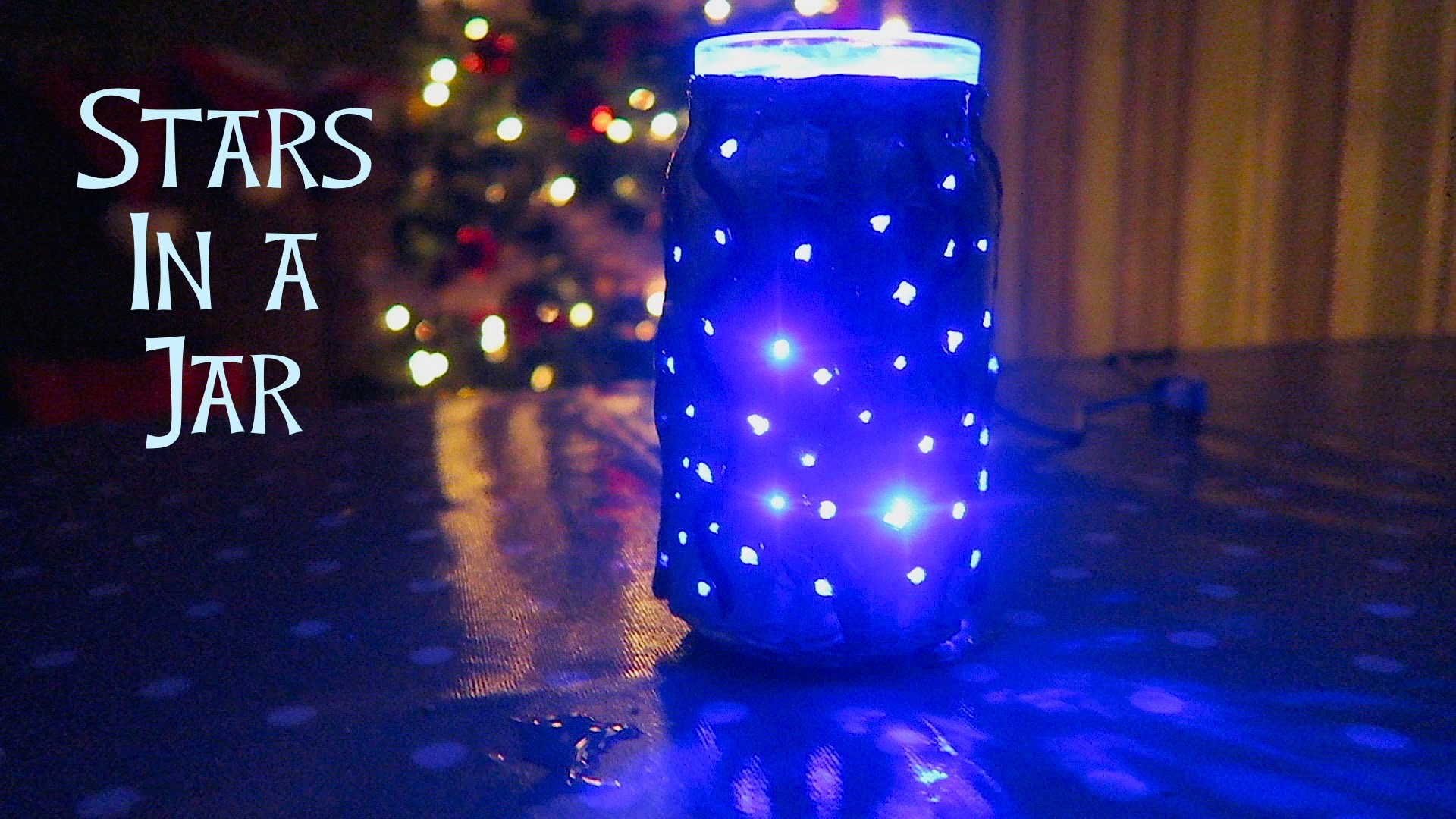 DIY XMAS NIGHT LIGHT - STARS IN A JAR