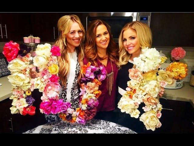 Floral Monogram DIY with Miss Arizona