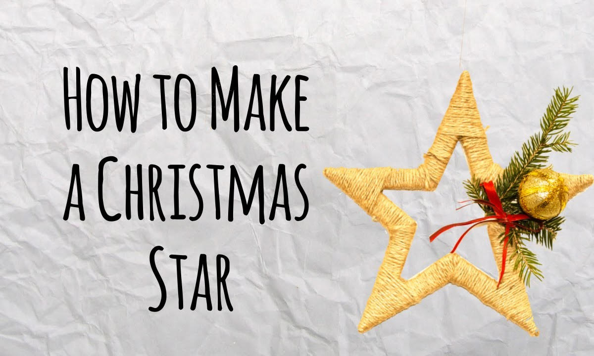 How to Make a Christmas Star - Master of DIY - Creative Ideas For Home