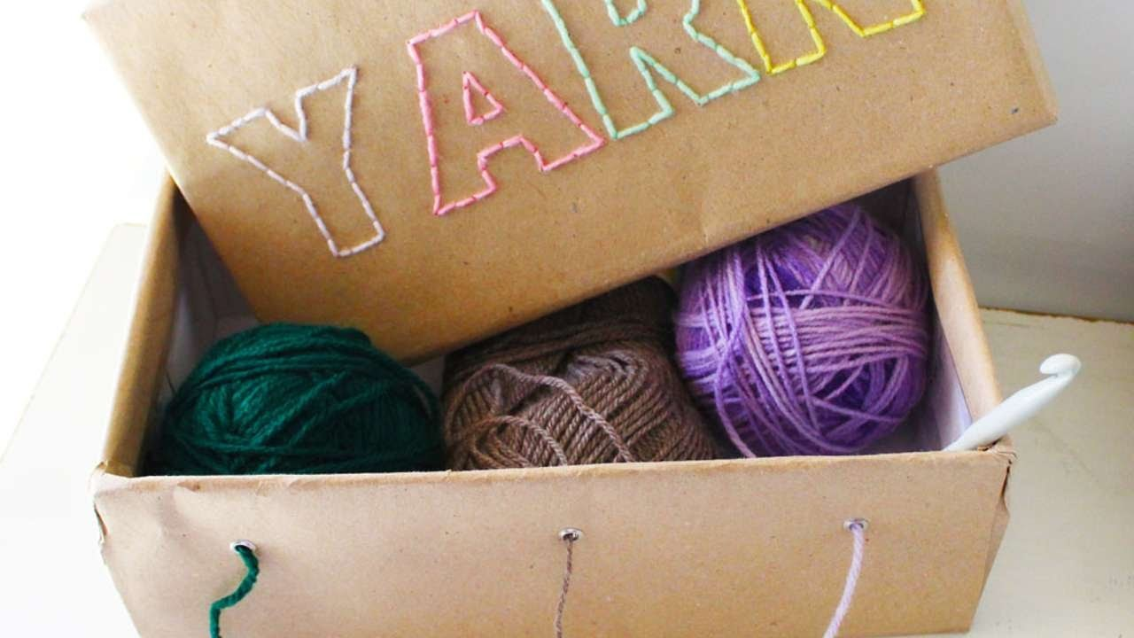 How To Make A Cute Yarn Box - DIY Home Tutorial - Guidecentral