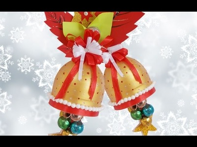 Recycled Bottle Craft : Amazing Christmas Decoration DIY Craft Idea for X-Mas Bells