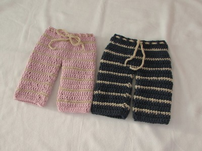 VERY EASY crochet pants. trousers. shorts tutorial - any size
