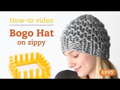 Zippy Loom - How to knit a hat, complete pattern