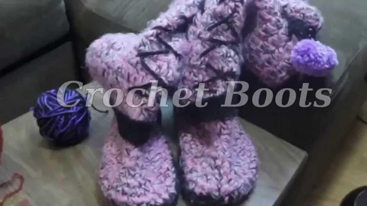 Crochet boots part 1