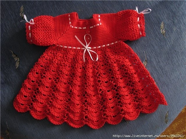 Crochet dress| How to crochet an easy shell stitch baby. girl's dress for beginners 61