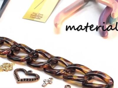 DIY Woven Tortoise Chain Bracelet