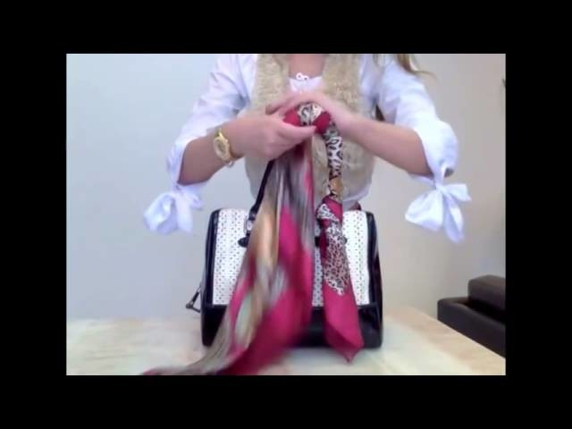 How to create beautiful looks for your handbag each time, using a scarf!