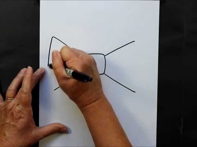 How to Draw a Cartoon Bow Tie Art Project for Kids