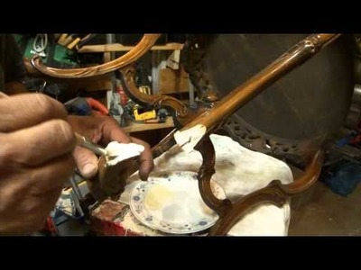 How To Fix A Broken Vintage. Antigue Wood Leg Table by Greg Zanis