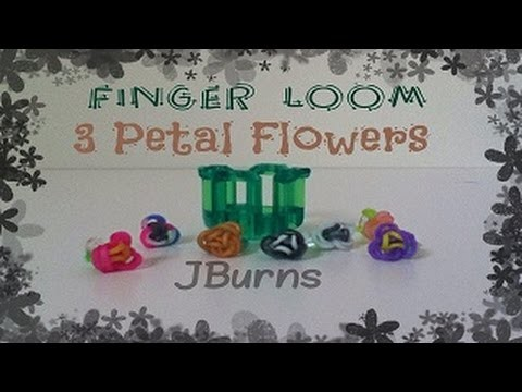 How to Loom: 3 Petal Flowers (Finger Loom)