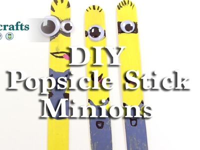 How to make Popsicle Stick Minions from Despicable Me