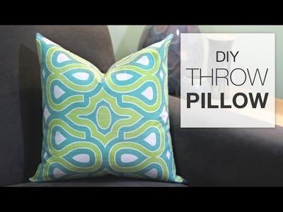 How to Sew a Throw Pillow (Tutorial)